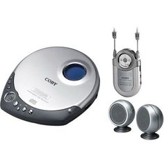Coby CX-CD1234 Portable CD Player with FM/AM Radio and Mini Speakers (Discontinued by Manufacturer)
