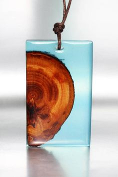 Natural Colors Jewelry Wood Pendant Resin Necklace Gift Wood