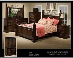 Queen Bed by Great River Furniture