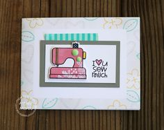 Card by Ashley Marcu using PS Needle Little Love stamps/dies