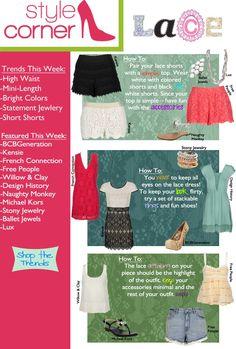 Style Corner - Lace -May 4 - 11 #VonMaur