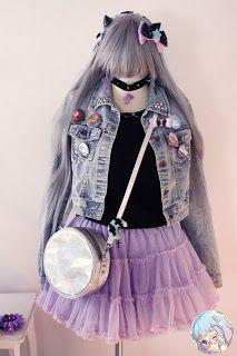 Pastel Cubes: Pastel Goth outfit