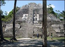 """Lamanai means """"submerged crocodile"""" in the Maya language and it's also the name of the third largest, and possibly most interesting, archaeological site in Belize."""