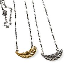 Pendant Necklace in Brass or Sterling Silver - Winged - Joanna Morgan Designs
