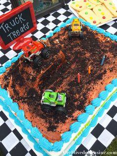 Monster Truck Party Monster truck cake