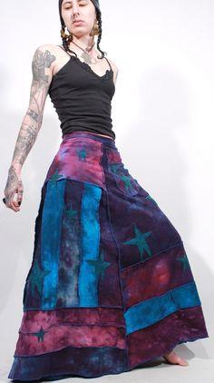 Night sky patchwork pocket wrap boho hippie by ChopstixWaits, $196.00
