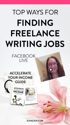 Need help for finding freelance writing jobs? This awesome video will totally help you find the best ways to find a freelance writing client! It's easy and quickly for newbies! Also, make sure to grab that resource to help you accelerate your freelance writing income!