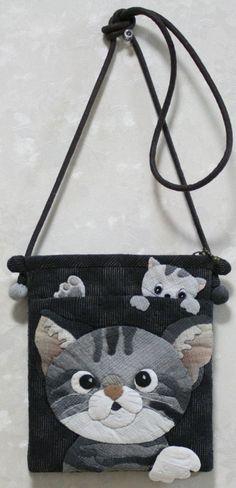 【預購】貝田明美 斜背包材料包/惡作劇的小猫