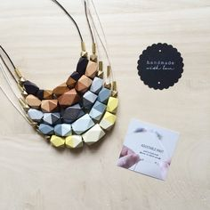 bright geometric necklaces perfect for summer :) #geometricjewelry #brightnecklace