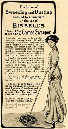 1911 Ad Bissell's Carpet Sweeper Grand Rapids Cleaning