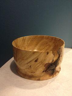 Maple Burl bowl turned on wood lathe