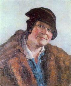 Portrait of M.Grabar-Dobryanskaya - (Igor Emmanuilovich Grabar)