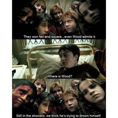 Poor Oliver . . . but they DID go on to win the Quidditch Cup that year . . . which the movie didn't include . . . I'm not bitter . . .