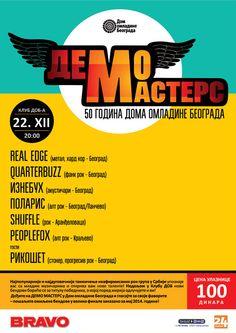 Demo Masters 6 u nedelju u Domu omladine