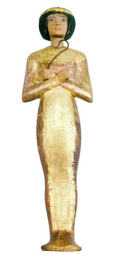 Shawabti king round wig tomb of Tutankhamun (original) The Shawabti-Ushabti was a funerary figurine used in Ancient Egypt. Ushabtis were placed in tombs among the grave goods and were intended to act as substitutes for the deceased, should he/she be called upon to do manual labor in the afterlife.