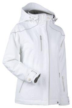 NILS Andrea ski/snow jacket in White Glacier. **Let it SNOW!