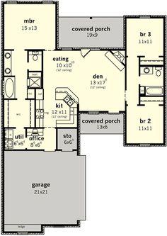 Plan 83099dc Split Bedroom Home For Narrow Lot