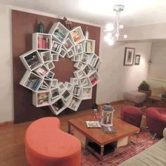 Ingenious Bookshelves for Your Home - Find Fun Art Projects to Do at Home and Arts and Crafts Ideas