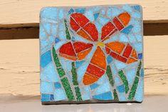 Mosaic flower by MadeByNatalieK on Etsy, $25.00