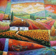 Картина «Солнечные цветы», Художник Лаптева Виктория