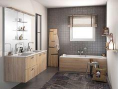 Meuble de salle de bains Sous vasque GINKO Blanc 2 tiroirs C´tés