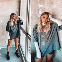Alternative Rock, Alternative Outfits, Alternative Fashion, Grunge Outfits, Hippie Outfits, Moda Grunge, Look Fashion, Fashion Outfits, Fashion Edgy