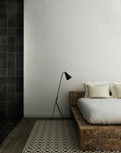 Urban Loft The Grand Design Penthouse| Serafini Amelia| Rustic bed feature| Minimalist design| French By Design