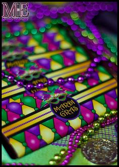 Mardi Gras party candy! See more party planning ideas at CatchMyParty.com!