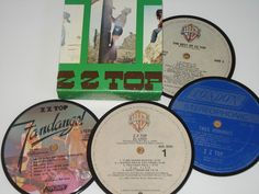 ZZ TOP Coasters vinyl record coaster set