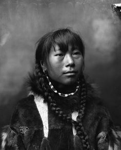 Inuit woman from Cape Prince of Wales, Alaska.  Date: 1904