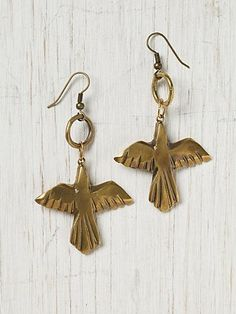 Alkemie Native Bird Earring at Free People Clothing Boutique - StyleSays