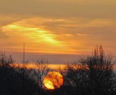 Sunrise in Germany ... wonderful winter.  #sunrise #photography #winter #nature