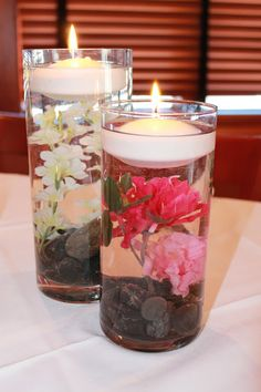 Girls Gone Food: DIY Bridal Shower Decorations. Love these centerpieces. and the homemade handscrub.