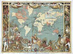 Mapas del Imperio Británico
