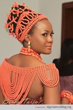BN Bridal Beauty: Edo Brides in Beautiful Beaded Benin Wedding Attire Nigerian Bride, Nigerian Weddings, African Weddings, Bridal Beauty, Wedding Beauty, Wedding Makeup, Black Is Beautiful, Simply Beautiful, Traditional Wedding Attire
