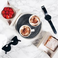 Watches and Ray bans,  just lattes and no plans
