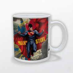 Taza Superman. Man Of Steel Capa