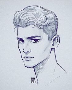 Cameron Mark on Male head sketch. Wasn t in my usual drawing groove today Pencil Art Drawings, Art Drawings Sketches, Illustration Sketches, Cartoon Drawings, Cartoon Art, Hipster Drawings, Website Illustration, Drawings For Boys, Sketches Of Boys