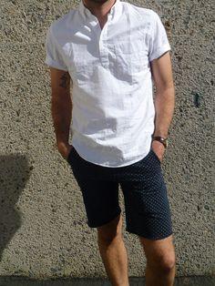 J.Crew Oxford Popover Short Sleeve Button Up | www.brickandvine.com