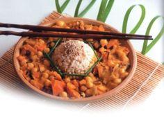 Dýňová omáčka na římském kmínu s cizrnou a kulatozrnnou rýží