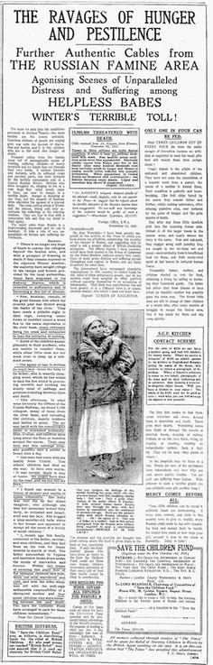 Save the Children Fund. 28 November, 1921