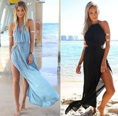 beach white dress on sale at reasonable prices, buy New Hot Sale 2015 Plus Size Dress Summer Women/Lady Loose Hollow Out V-Neck Maxi Sundress Long Beach Dress S,M,L 29 from mobile site on Aliexpress Now! Boho Summer Dresses, Summer Dress Outfits, Beach Dresses, Boho Dress, Dress Summer, Maxi Dresses, New Ladies Dress, Sexy Beach Wear, Designer Prom Dresses