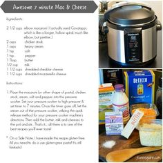 Quick Pressure Cooker Mac & Cheese Recipe