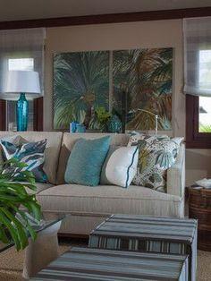 Four Seasons Vacation Home - tropical - Living Room - Hawaii - Henderson Design Group