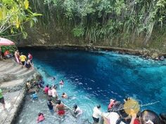 10 Most Unbelievable Places that really Exist - Enchanted River (Surigao Del Sur, Philippines)  The Hinatuan River is popularly known as the enchanted river. It is currently one of the cleanest river in the Philippines. A lot of people say the photos in the internet are photo-shopped but such is the essence of the Enchanted river. It is so clear to the point of being unbelievable...The Enchanted river got its name because of the consistent belief by the locals that the river is a dwelling…