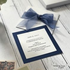 Navy and white wedding invitation ideas. Make your own wedding stationery with polka dot ribbon. Boxed wedding invitations to make yourself. Blue wedding ideas. How to make your own invitations with bow. Instructions and DIY supplies available from Imagine DIY DIY Wedding, DIY wedding invitations, Boxed wedding invitations, boxed invitation, invitation with bow, wallet invitation, pocket invitation, invitation with spots, polka dot invitation, DIY wedding ideas, invitations with ribbon,