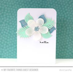 Tropical Flowers, Pretty Poppies, Tropical Flowers Die-namics - Anni Lerche  #mftstamps