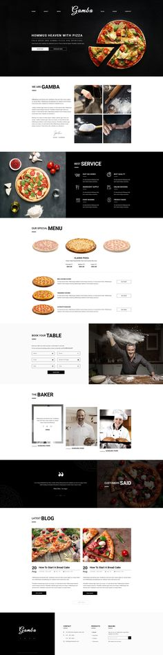 Gamba Bakery, Cakery, Pizza & Pastry Shop PSD Template