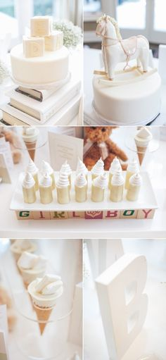 Elegant White Baby Shower