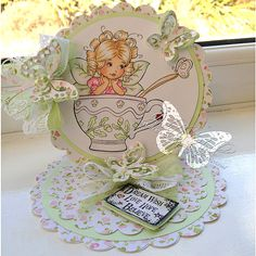 There's a Fairy in my Tea! - Digital Stamp